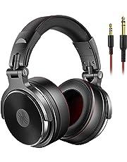 OneOdio DJ モニターヘッドホン プロフェッショナル 密閉型ヘッドフォン ブラック スタジオ用/楽器練習/ミキシング/TV視聴/映画鑑賞などに対応