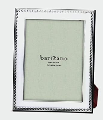 BARIZANO Links Sterling Overlay 5x7 Picture Frame, Silver