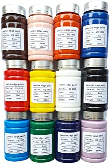 VALUXE 12 Colors Acrylic Leather Paint Matt Finish, 100ml (3.39Oz) Leather DYE Craft Artist Colorant, Leather Painting Ki...