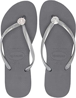 Slim Crystal Poem Flip Flops