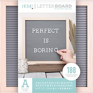 DCWVE Die Cuts with A View Board Letterboard-12 x 12-Oak and Gray (189 pcs) LB-006-00002, 12 x 12, Natural
