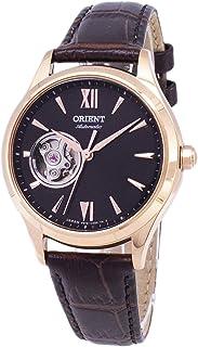 ساعة اورينت اوتوماتيكية بقلب مفتوح بسوار جلدي باللون الذهبي الوردي طراز RA-AG0023Y00C