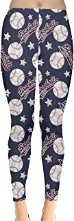 CowCow Womens Baseballs Billiards Basketball Football Balls Leggings, XS-5XL