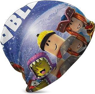 Inside The World of Ro-b-lox Niños Casual Beanie Hat Winter Warm Knit Ski Beanies Skull Cap