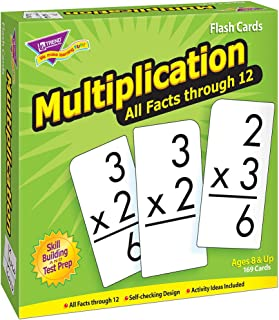 TREND ENTERPRISES, INC. Multiplication 0-12 All Facts Skill Drill Flash Cards - Set of 169 Cards