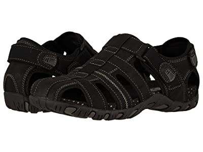 Nunn Bush Rio Bravo Fisherman Sandal (Black) Men