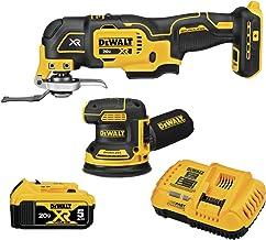DEWALT 20V MAX* XR Sander & Multi-Tool, Woodworking Kit, 2-Tool (DCK202P1)