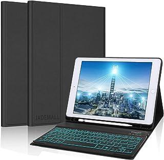 حافظة لوحة المفاتيح لجهاز iPad 10.2 8th 2020 / الجيل السابع 2019، iPad Air 3 2019، iPad Pro 10.5 2017 Slim PU Leather Stan...