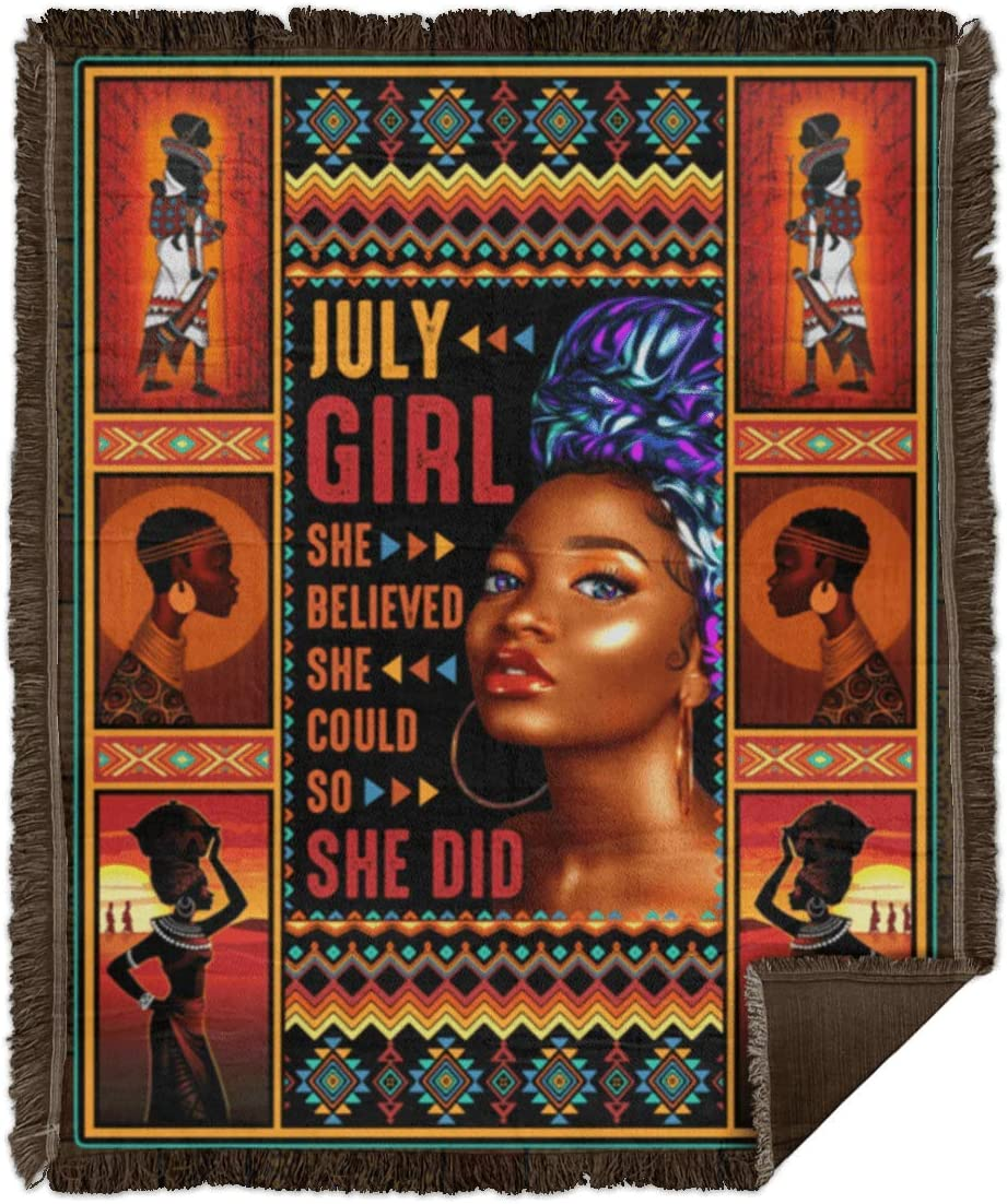 Birthday Gifts Blanket July African American Finally resale start Queen Girl Manufacturer regenerated product Sh
