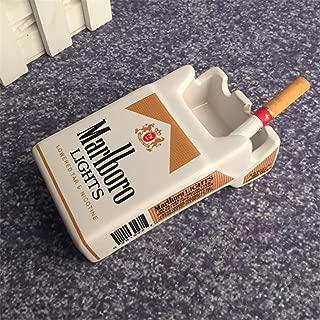 YOURNELO Creative Cute Cratoon Cigarette Case Marlboro Ceramic Cigarette Ashtray for Home Car (Marlboro Golden)