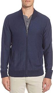 Bonobos Mens Cotton & Cashmere Bomber Sweater XX-Large Navy Marled