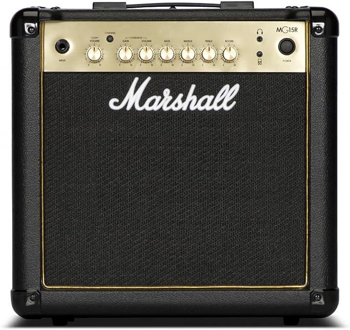 Marshall mg15gr - 15w nero e oro combo chitarra con / molla riverbero B07DRHDDK7