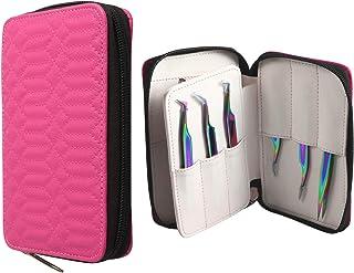 Metaleks 12Pcs Eyelash Extension Tweezers and Accessories Tool Kit In Multi Titanium Coated