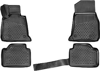 Walser XTR Gummifußmatten kompatibel mit BMW 3 Touring (F31) Baujahr 07/2012 06/2019, passgenaue Auto Gummimatten, Autofußmatten Gummi