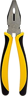 STANLEY 70-482 8'' Sturdy Steel Combination Plier Double Color Sleeve (Yellow and Black)