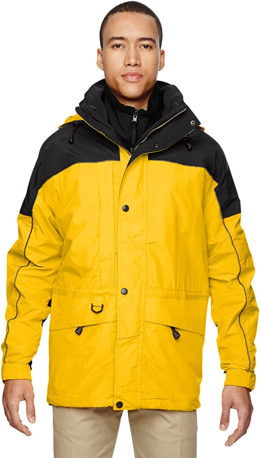 North End Men's 3-in-1 Two-Tone Zip-Off Hood Parka