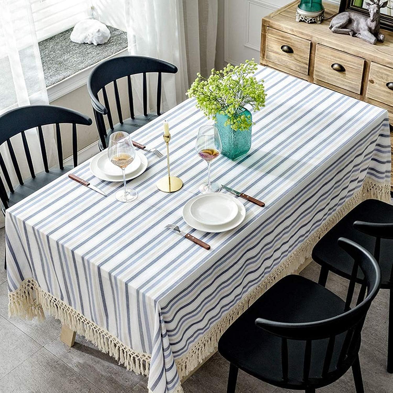 JIANFEI Nappe Tissu De Table Rectangle Coton Gland, 3 Couleurs, 7 Tailles Personnalisable (Couleur   B, taille   140x220cm)