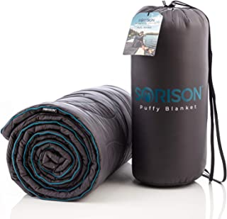 SORISON Puffy Camping Quilt and Stadium Blanket