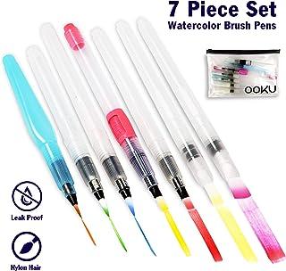 OOKU Watercolor Brush Pens 8 Piece Set – 7 Multi Purpose Watercoloring Brush pens..