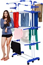 Magna Homewares Heavy Duty Steel 4 Layers Super Grandis Cloth Drying Stand with Wheels and Cloth Hangers-JUST LAUNCHED Price for 3 Days ONLY