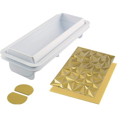 silikomart 25.074.63.0065 Moules à Forme spécifique, Silicone, Blanc, 25 x 8 x 6,7 cm