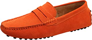 Elegdy Mens Driving Penny Loafers Suede Casual Moccasins Slip-On Boat Shoes Up to Size 49 EU Color : Sapphire, Size : 8.5 M US