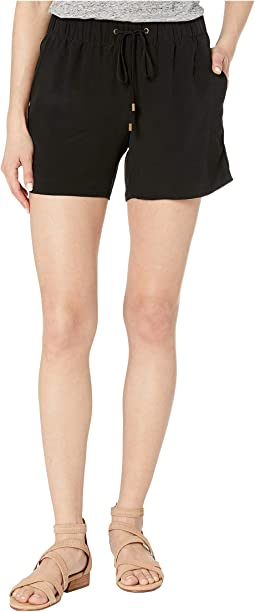 Petite Tencel Viscose Crepe Walking Shorts