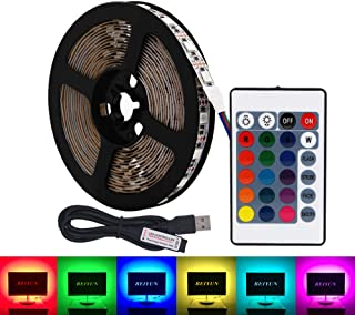 comprar comparacion USB RGB LED tira de luz,5V 5 metros 300leds 5050 Tira de luz suave coloreada,colorido Luz de fondo de TV con 24 teclas de ...