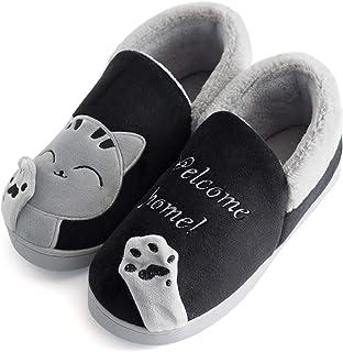 Vunavueya Hiver Chausson pour Enfants et Adultes Garçon Fille Pantoufle Hiver Chaussures de Maison Femmes Hommes Chaude Fo...