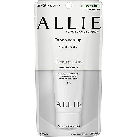 ALLIE Nuance Change UV Gel WT Transparent Glossy Skin Finish SPF 50+/PA++++ Sunscreen, Bouncy Mood, Jasmine & White Peshe Scent, 60G