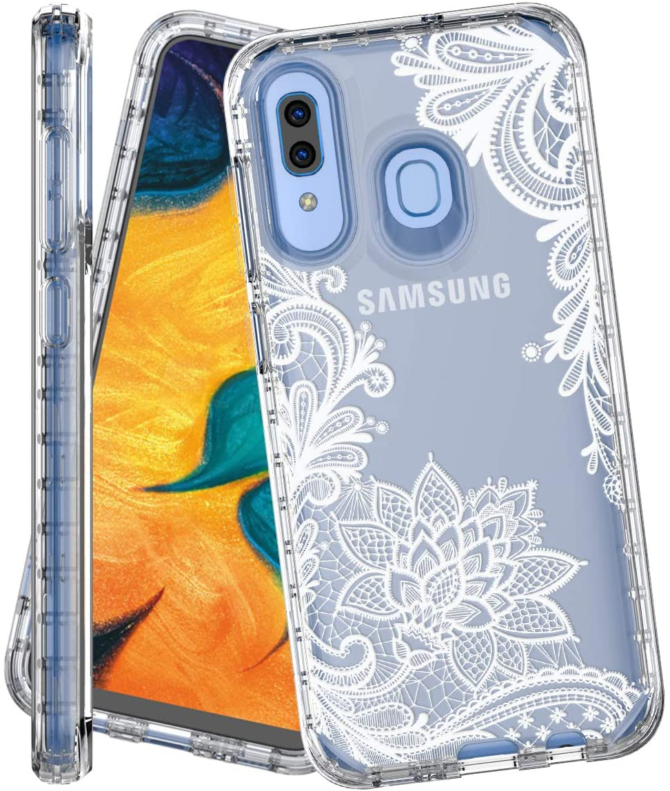 IN4U Galaxy A30 Case,Galaxy A20 Case, Full Body Military Grade Shockproof 3in1 Marble Design 360 Protective Cover for Samsung Galaxy A30 / A20 / A50 Case