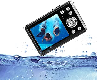 "HG8011 Cámara Digital a Prueba de Agua/Zoom Digital 8X/ 12 MP/ 1080P FHD/Pantalla LCD TFT de 2,31""/ Cámara subacuática par..."