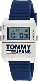 Tommy Hilfiger White Dial Navy Silicone Watch For Men