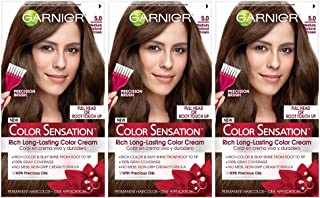 Garnier Color Sensation Hair Color Cream, 5.0 Chocolate Therapy (Medium Natural Brown), 3 Count (Packaging May Vary)