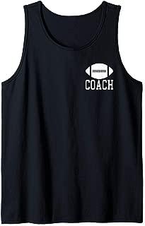Football Coach Silhouette Clipart Graphic Logo Tank Top