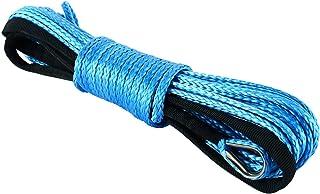 FreeTec Synthetische Seilwinde 7700lbs Seilwinde mit Haken für ATV UTV Offroad, 6 mmx15 m