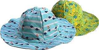 قبعة BONVERANO للوقاية من أشعة الشمس فوق البنفسجية للفتيات الصغار مع عامل حماية من الشمس +50 قبعة دلو 3-6Y