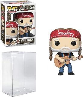 Willie Nelson Pop #202 Pop Rocks Willie Nelson Vinyl Figure (Includes Compatible Ecotek Plastic Pop Box Protector Case)