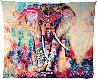 GoodPing Indian Bohemian Elephant Tapestry Decor Home Hippie Tapestry Wall Hanging (BM)