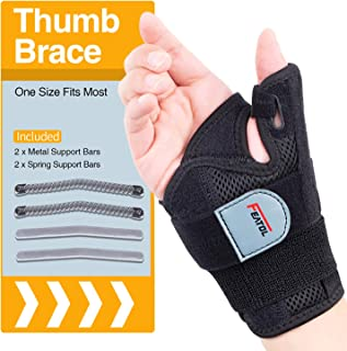 Reversible Thumb Splint Brace Stabilizer,Thumb Brace for Arthritis,Carpal Tunnel,Sprains and De Quervain's Tenosynovitis,One Size Fits Most…