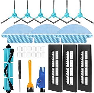 comprar comparacion morpilot Kit de Accesorios para Conga 3090 Aspiradora, Recambios con 6 Cepillos Laterales, 3 Mopas, 3 Filtros HEPA, 12 Fil...