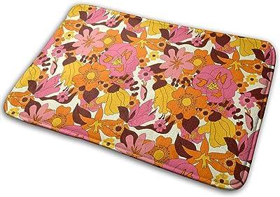 New Zealand Flowers Carpet Non-Slip Welcome Front Doormat Entryway Carpet Washable Outdoor Indoor Mat Room Rug 15.7 X 23.6 inch