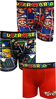 Nintendo Boys Super Mario Bros 3 Pack Boxer Briefs