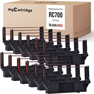 myCartridge 12-Packs Compatible Ink Ribbon Replacement for Star RC700 SP700 SP712 SP712R SP717 SP742R SP747 SP740 (Black/Red)