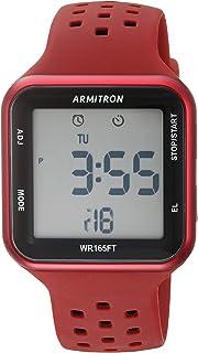 ساعة رياضية 40/8417 رقمية كرونوغراف وسوار من السيليكون للجنسين من ارميترون