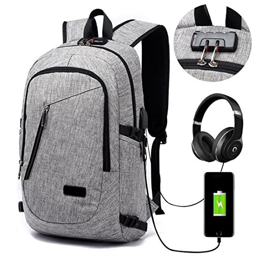 88b8268f27fa Lmeison Laptop Backpack with USB Charger Port   Headphone Port   Lock