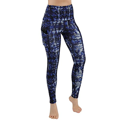 4c194ed657f4 ODODOS High Waist Out Pocket Printed Yoga Pants Tummy Control Workout  Running 4 Way Stretch Yoga