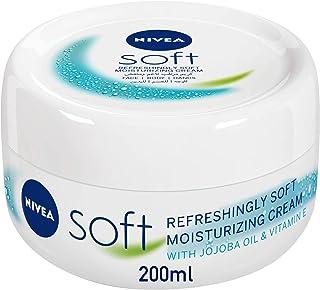 NIVEA Soft Refreshing and Moisturizing Cream Jar, 200 ml