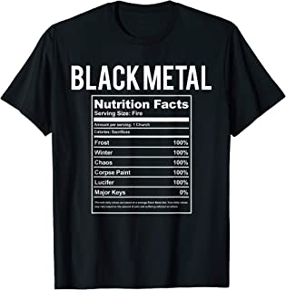 Funny Black Metal Nutrition Facts Shirt & Gift For Concert