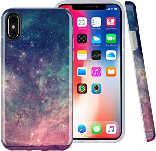 CASESOCIETY Compatible iPhone X Case iPhone Xs Starlight Night Sky Design Bumper Glossy TPU Soft Rubber Silicone Cover Phone Case for Apple iPhone X & iPhone Xs